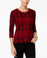 Charter Club Petite Printed Top, Only at Macy's