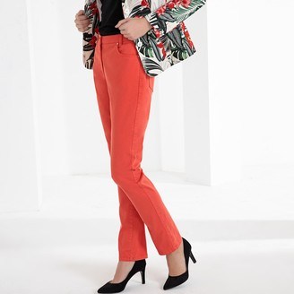 """Anne Weyburn Stretch Cotton Straight Cut Trousers, Length 30.5"""""""