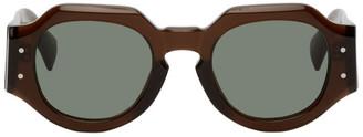 Dries Van Noten Brown Linda Farrow Edition 175 C4 Sunglasses