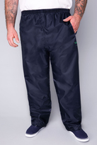 Yours Clothing D555 Navy Packaway Waterproof OverTrousers