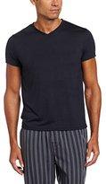 Intimo Mens Soft Knit Short Sleeve V-Neck Top