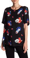 Vince Camuto Traveling Bloom Short Sleeve Blouse