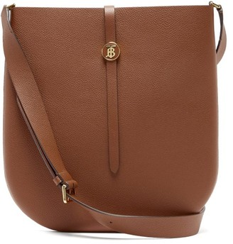Burberry Tb Besage Grained-leather Cross-body Bag - Tan