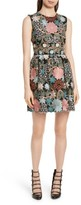 RED Valentino Women's Floral Embroidered Crepe Sable Dress