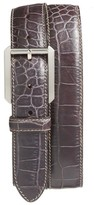 Bosca Men's Embossed Leather Belt
