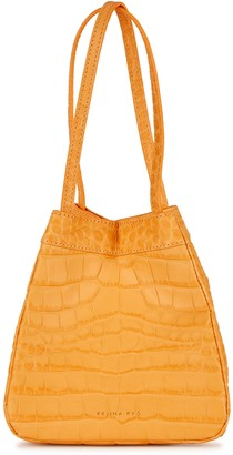 REJINA PYO Rita crocodile-effect leather top handle bag