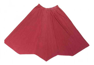 Pleats Please Pink Polyester Skirts