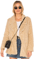 Tularosa Violet Faux Shag Coat in Beige. - size L (also in M,S,XL,XS)