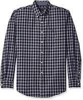 U.S. Polo Assn. Men's Long Sleeve Oxford Cloth Button Down Gingham Check Sport Shirt