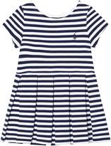 Ralph Lauren Blue Stripe Drop Waist Ponte Dress