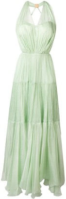 Maria Lucia Hohan Poppy pleated maxi dress
