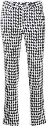 Alexander McQueen Houndstooth Print Jeans