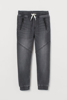 H&M Super Soft Denim Joggers - Black