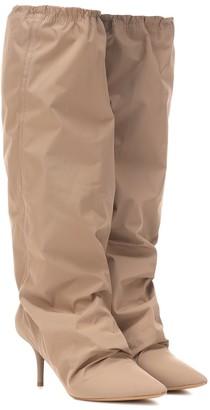 Yeezy Nylon knee-high boots (SEASON 8)