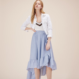 Maje Long skirt with frills