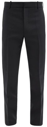 Alexander McQueen Satin-faced Wool-blend Twill Suit Trousers - Black
