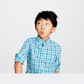 J.Crew Kids' Secret Wash shirt in blue-green gingham