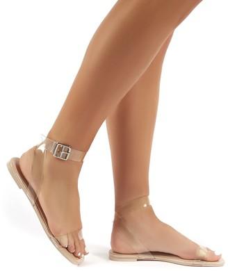 Public Desire Uk Hailee Perspex Flat Sandals