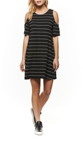 Dex Cold Shoulder Stripe Dress