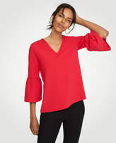 Ann Taylor Petite Bell Sleeve V-Neck Top