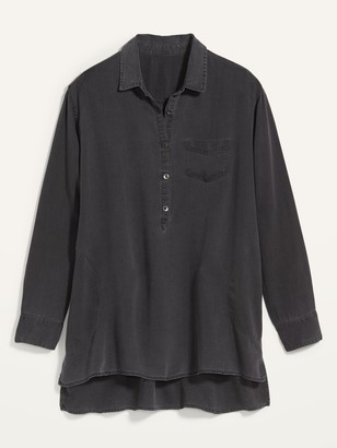 Old Navy Oversized Popover Swing Tunic Top for Women