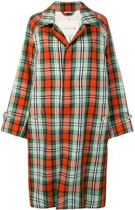 MACKINTOSH multi-colour check coat