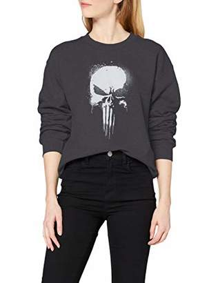 Marvel Women's Knights Paintspray Skull Sweatshirt,14 (Size:)