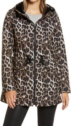 Gallery Leopard Print Hooded Soft Shell Jacket