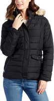 U.S. Polo Assn. Black Quilted Faux Fur Hood Jacket