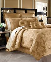 J Queen New York Concord 4-Pc. Gold Queen Comforter Set Bedding