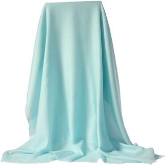 Prettystern - Cashmere & Wool Pashmina Scarf 200 yarn Oversize diamond pattern in fresh pastel colors - 1 Aqua