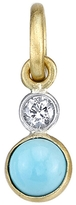 Irene Neuwirth Turquoise and Diamond Charm - Yellow Gold