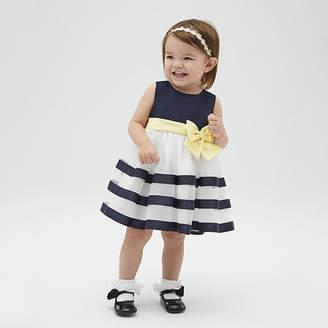 Bonnie Jean Ribbon - Baby Girls Sleeveless Striped A-Line Dress