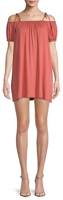 Rachel Pally Sigourney Cold-Shoulder Mini Dress