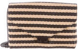 Loeffler Randall Striped Straw Crossbody Bag