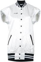 R 13 sleeveless 'Misfit' bomber jacket - women - Cotton/Viscose - XS
