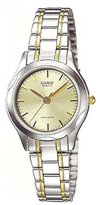 Casio Women's LTP1275SG-9A Two-Tone Stainless-Steel Analog Quartz Watch with Dial