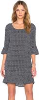 Velvet by Graham & Spencer Elida Printed Challis Short Sleeve Shift Dress