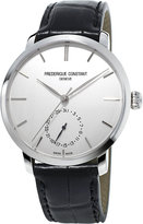 Frederique Constant Fc710s4s6 Slimline Stainless Steel And Alligator-leather Watch