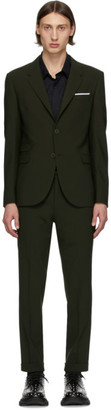 Neil Barrett Green Wool Suit