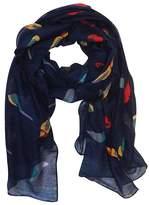 P.R. P & R Women's Print Scarves Shawl Large Sizecm Voile Soft Wraps