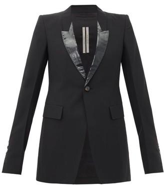 Rick Owens Lame-lapel Single-breasted Jacket - Womens - Black