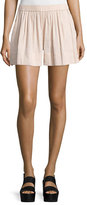 Vince Linen-Blend Pull-On Shorts, Rose Water