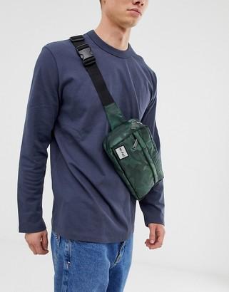Mi-Pac Mi Pac Street Pac Satin crossbody bag in camo print 3l-Green
