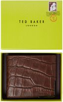 Ted Baker Croc Emboss Leather Wallet