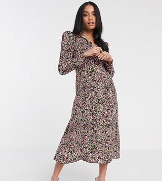 Y.A.S Petite midi tea dress in floral print