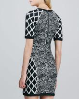 Elizabeth and James Argon Mix-Print Dress