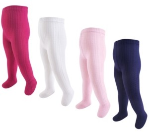 Hudson Baby Girl Cotton Tights 4Pack
