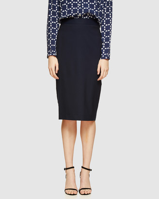 Oxford Women's Blue Pencil skirts - Peggy Wool Suit Skirt - Size One Size, 6 at The Iconic