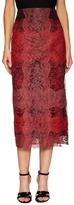 Valentino Silk Lace Midi Pencil Skirt